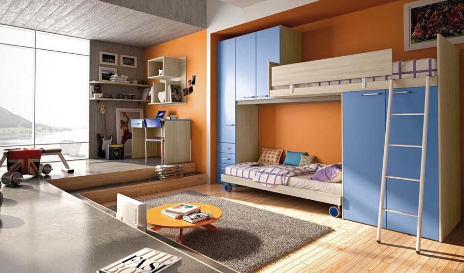 Camerette Moderne Colombini Soppalco – Toscana Arredamenti – 107