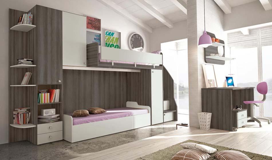 Camerette Moderne Colombini Soppalco – Toscana Arredamenti – 108