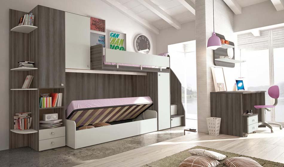 Camerette Moderne Colombini Soppalco – Toscana Arredamenti – 109