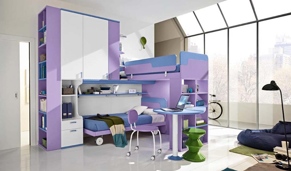 Camerette Moderne Colombini Soppalco – Toscana Arredamenti – 113