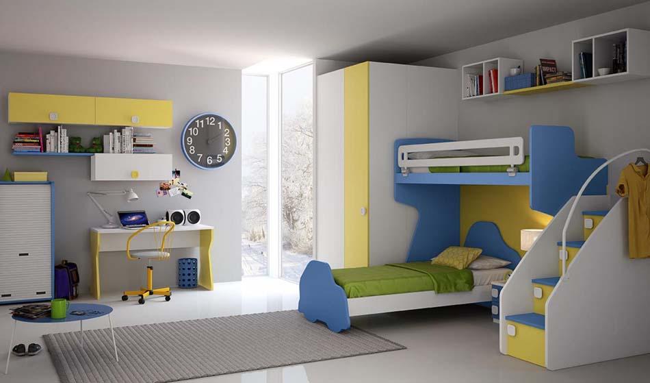 Camerette Moderne Colombini Soppalco – Toscana Arredamenti – 115