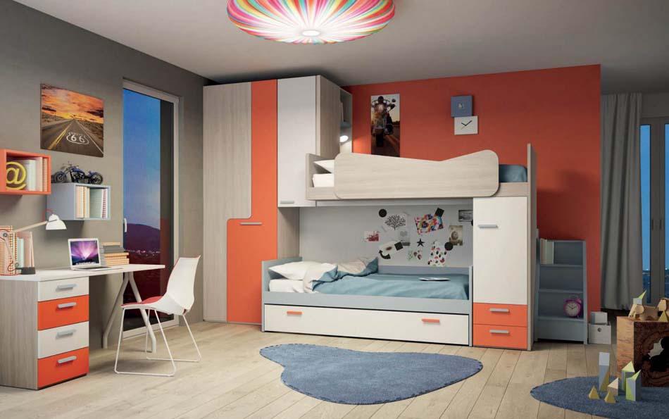 Camerette Moderne Soppalco Mistral – Toscana Arredamenti – 103A