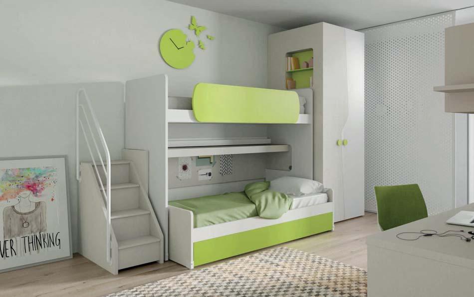 Camerette Moderne Soppalco Mistral – Toscana Arredamenti – 105A