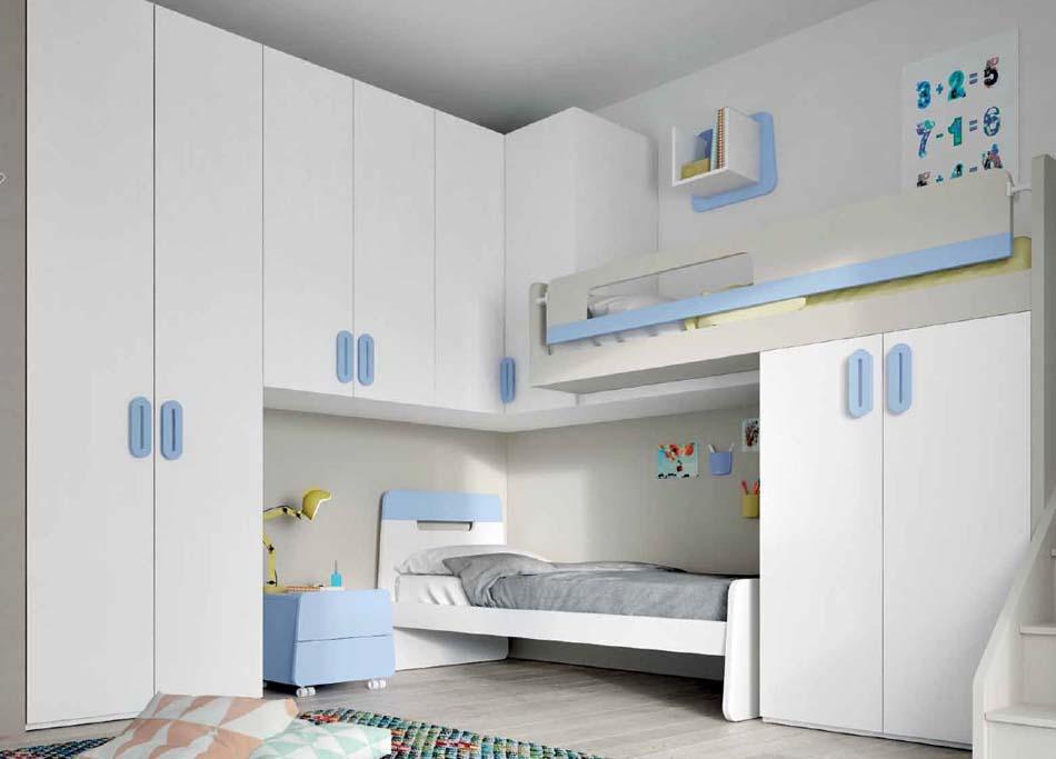 Camerette Moderne Soppalco Mistral – Toscana Arredamenti – 111
