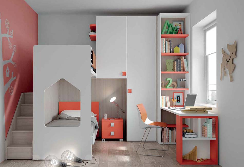 Camerette Moderne Soppalco Mistral – Toscana Arredamenti – 116