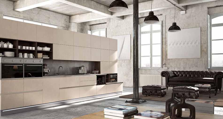 Cucine su misura artigiali 57 – Linea Lounge -Toscana Arredamenti.