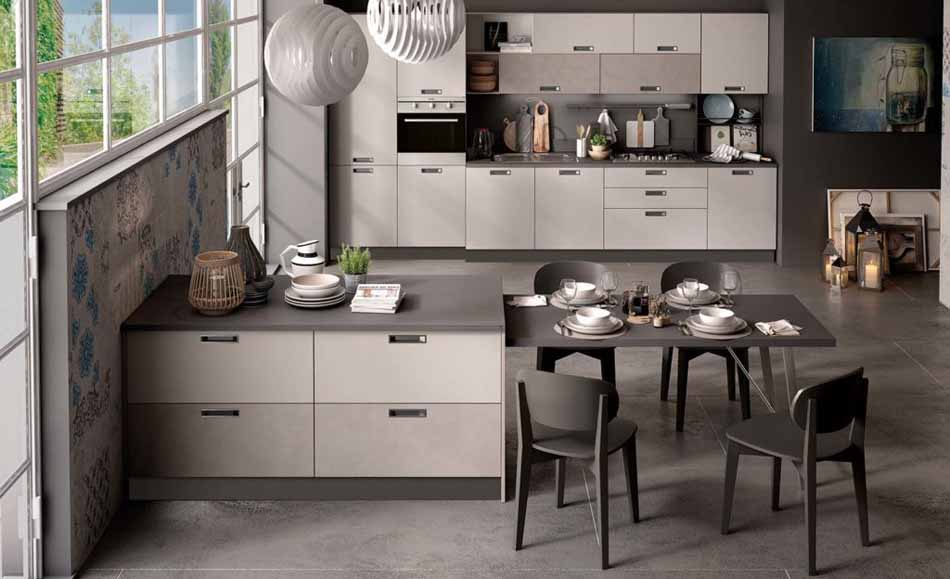 Cucine su misura artigiali 62 – Linea Brooklyn -Toscana Arredamenti