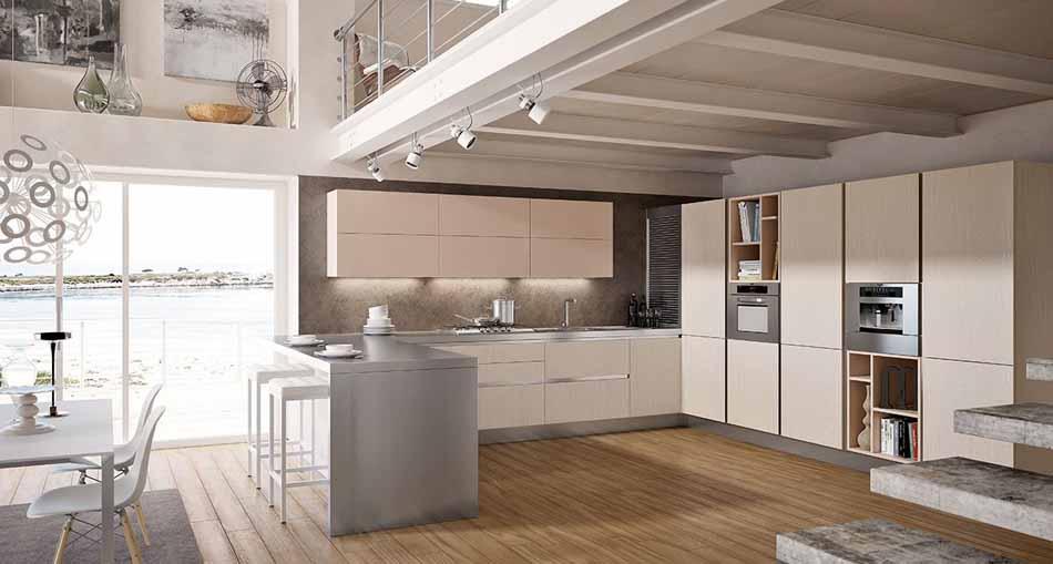 Cucine su misura artigiali 67 – Linea Lounge -Toscana Arredamenti.