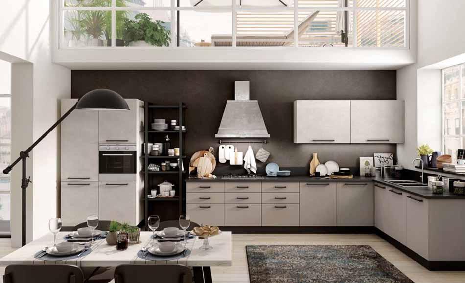 Cucine su misura artigiali 82 – Linea Brooklyn -Toscana Arredamenti