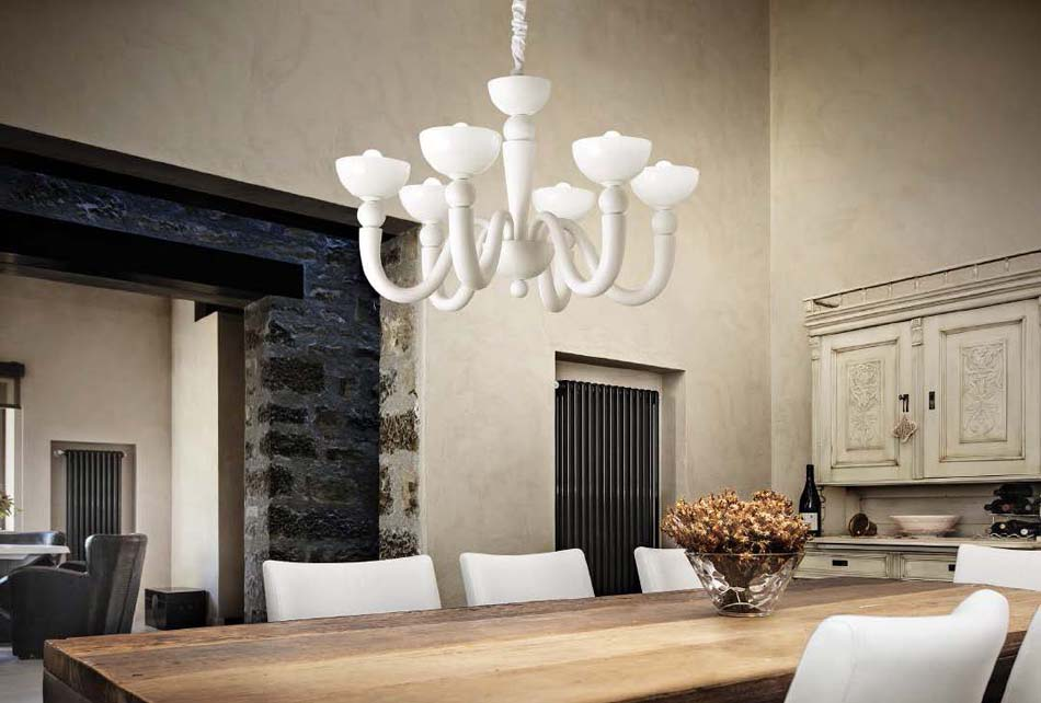 Lampade 40 sospese vintage Ideal Lux White Lady – Toscana Arredamenti