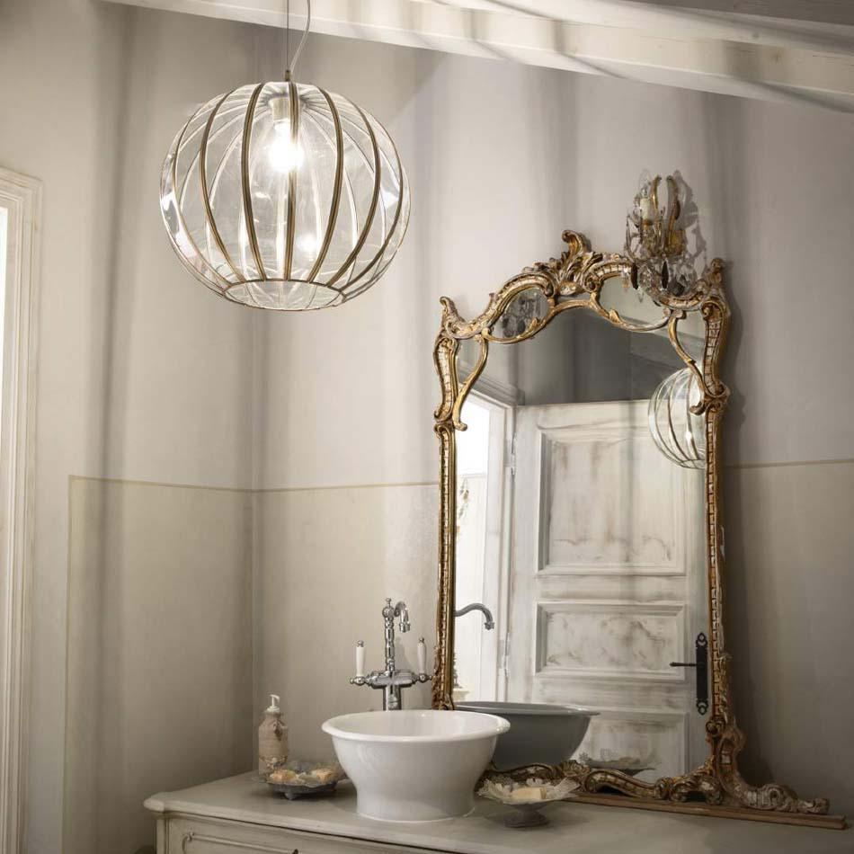 Lampade 57 sospese vintage Ideal Lux rondo – Toscana Arredamenti