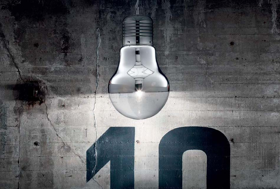 Lampade sospese Ideal Lux Luce Cromo – Toscana Arredamenti