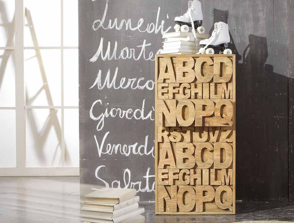 Nature Design 11 Settimanali Lettere – Toscana Arredamenti